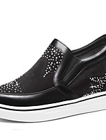 Women's Loafers & Slip-Ons Spring / Summer / Fall / Winter Comfort Synthetic Athletic / Casual Platform Black / Silver