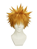 Cosplay Wigs Cosplay Cosplay Orange Short / Straight Anime Cosplay Wigs 22 CM Synthetic Fiber Male