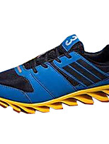 Men's Sneakers Spring / Fall Comfort / Round Toe PU Outdoor / Casual Flat Heel Lace-up Blue / Red Fitness & Cross Training