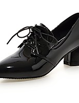 Women's Shoes Patent Leather Summer/Fall Comfort/Pointed Toe Heels Office & Career/Casual Chunky Heel Black/Silver/Gold