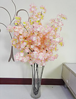 Hi-Q 1Pc Decorative Flower Peach Blossom Wedding Home Table Decoration Artificial Flowers