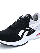 Women's Sneakers Spring / Fall Comfort Tulle Athletic Flat Heel Lace-up Red / Gray Sneaker