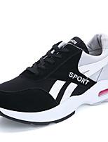 Mujer-Tacón Plano-Confort-Zapatillas de deporte-Deporte-Tul-Rojo / Gris