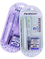 Dual-use Calligraphy Pen with Four Crystal Blue Erasable Ink Sac Pumping Device