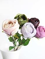 1pc/set 1 Ramo Seda Rosas Flor de Mesa Flores artificiais Total Length:21.2