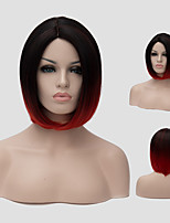 A short straight hair wig simulation scalp black gradient gradient Synthetic Wigs