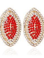 1pair/Red/Blue/Black/White/pink Stud Earrings forWomen