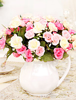 Hi-Q 1Pc Decorative Flowers Real Touch Rose For Wedding Home Table Decoration Artificial Flowers