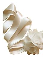 Satin Bryllup / Fest/aften / Hverdag Sash-Blomster Dame 98.5 tommer (ca. 250cm) Blomster