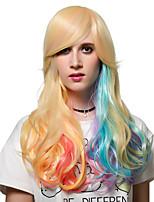 longs cheveux bouclés dégradé de couleur, Europe et les Etats perruque états de la mode.