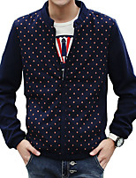 2016 new men's clothes and printing T-shirts mens jacket coat slim Korean summer tide