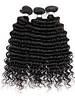 Tissages de cheveux humains Cheveux Brésiliens Ondulation profonde 6 Mois 3 Pièces tissages de cheveux