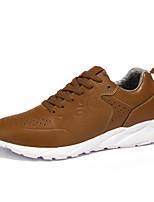 Herren-Sneaker-Lässig-PU-Flacher Absatz-Komfort-Schwarz / Rot / Weiß / Khaki