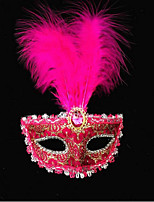 Kunststof Wedding Decorations-1piece / Set Masker Halloween Vintage Theme Rood / Blauw / Fuchsia Lente / Zomer / Herfst / Winter