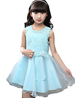 Girl's Going out Jacquard Dress,Cotton Summer Blue / Pink