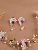 Leaf Beautiful Rose Flower Wreaths Headband for Lady Wedding Party Holiday Hair Jewelry