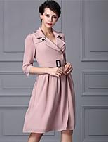 Baoyan® Женский V-образный вырез 1/2 Length Sleeve Выше колена Платья-160328