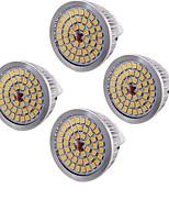 6,5 GU5.3 (MR16) LED-spotlampen MR16 48 SMD 2835 600 lm Warm wit Decoratief AC 12 V 4 stuks