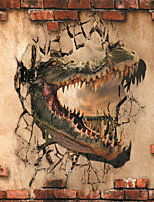 JAMMORY 3D Wallpaper For Home Contemporary Wall Covering Canvas Material Mural Poqiang Out of Crocodile3XL(14'7''*9'2'')