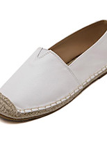 Women's Loafers & Slip-Ons Fall Comfort Leatherette Outdoor Flat Heel Others White Others