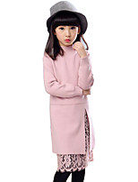 Girl's Casual/Daily Solid Dress / Sweater & Cardigan,Rayon Winter / Spring / Fall Black / Pink / Red / Gray