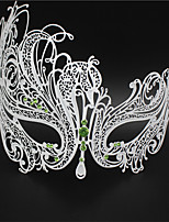 Masquerade  Laser-cut Metal Rhinestone Party Mask Venetian Mask For Women4002C2