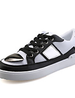 Men's Sneakers Spring / Fall Styles / Round Toe Tulle Casual Flat Heel Others White / Gold Walking
