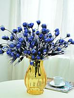 1 1 Ast Polyester / Kunststoff Rosen Tisch-Blumen Künstliche Blumen 15.7inch/40cm