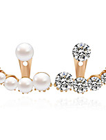 1pair/white/clearStud Earrings for women