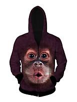 3D  Hoodie Long Sleeve Gorilla Printing Clothing