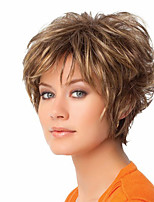 Ms Fashion in Europe And The Short Hair  Brown Fleeciness Nature Volume Partial Points 4 Inch