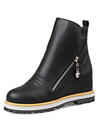 Women's Fashion Boots Leatherette Casual Flat Heel Zipper Black / Gray / Almond Snow Boots EU35-39