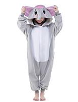 Kigurumi pijamas nueva Cosplay® / Elefante Leotardo/Pijama Mono Víspera de Todos los Santos ropa de noche de los animales Gris Un Color