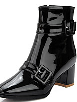 Women's Shoes Boots Spring/Fall/Winter Heels/Bootie/Square Toe Office Career/Party Evening/Casual Chunky Heel Buckle
