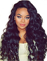 10-26 Inch Unprocessed Indian Virgin Human Hair Natural Black Color Big Body Wave Full Lace Wigs With Baby Hair