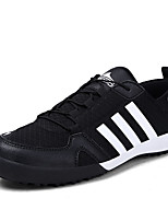 Men's Shoes PU / Tulle Athletic Sneakers Athletic Sneaker Flat Heel Lace-up Blue / Black and Red / Black and White