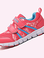 Girl's Sneakers Spring / Fall Comfort PU Casual Flat Heel Magic Tape Blue / Pink / Red Walking / Others