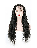 EVAWIGS 2PCS/Package 10-26 Inch Peruvian Human Virgin Hair Natural Black Color Water Wave Lace Front Wig with Baby Hair