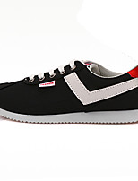 Women's Shoes Suede Spring / Fall Comfort / Flats Sneakers Outdoor / Casual Flat Heel Lace-up Black / Blue Walking