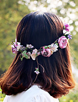 Purple Beautiful Rose Flower Wreaths Headband for Lady Wedding Party Holiday Hair Jewelry