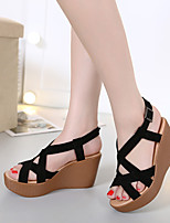 Women's Sandals Summer Sandals / Open Toe Suede Casual Wedge Heel Others Black / Blue Others