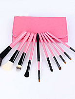 10Pcs Hot Style Makeup Brush Sets Wooden Handle Of Wool Horse Hair Brush