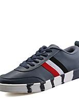 Herren-Flache Schuhe-Lässig-PU-Flacher Absatz-Flache Schuhe-Schwarz / Blau / Weiß