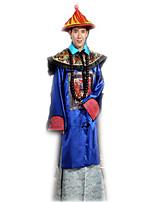 Costumes N/C Halloween Bleu Jacquard Satin Collant/Combinaison / Collier / Chapeau