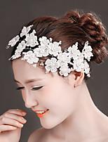 Dame Blonde Headpiece-Bryllup Blomster 1 Deler Hvit