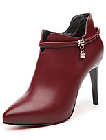 Women's Shoes Leatherette Fall Heels Heels Wedding / Party & Evening / Dress Stiletto Heel Others Black / Burgundy