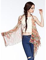 Heart Soul® Women's Round Neck Sleeveless Vest & Waistcoat Gray / Purple / Yellow-W0423062