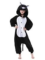 Kigurumi pijamas nueva Cosplay® / Gato Leotardo/Pijama Mono Víspera de Todos los Santos ropa de noche de los animales Negro/BlancoUn
