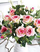 1 1 Филиал Полиэстер Розы Букеты на стол Искусственные Цветы 87CM