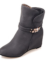 Women's Boots Fall / Winter Fashion Boots / Combat Boots / Round Toe Party & Evening / Dress / Casual Wedge Heel